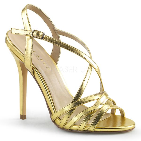 High Heel Sandalette gold PU AMUSE-13